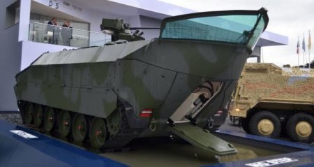 «Тяни-толкай»: вГермании представлена концептуальная гусеничная бронированная амфибийная машина APVT
