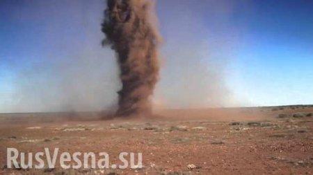 Операция в сирийской пустыне: Торнадо на пути российских военных (ФОТО, ВИДЕО)