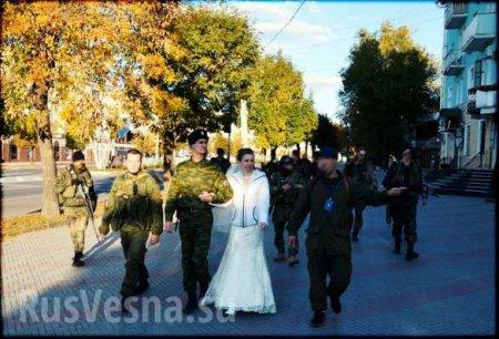 Разведчики ЛНР отпраздновали «боевую свадьбу» (фото)