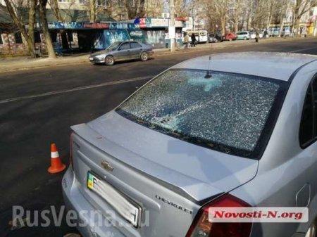 ВНиколаеве «всушник» на мопеде влетел в заднее стекло авто (ФОТО)
