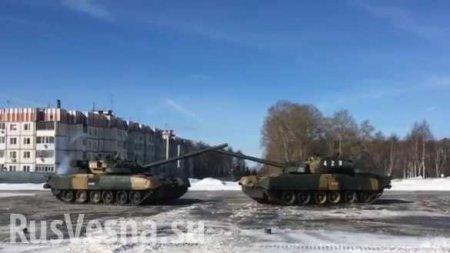 Гвардейцы поздравили женщин удивительным танковым «балетом» (ВИДЕО)