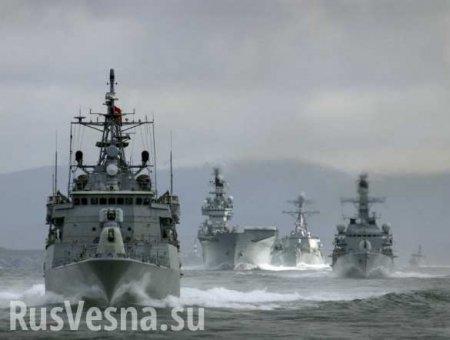 Появились кадры прохода кораблей НАТО через Босфор (ВИДЕО)