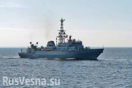 Корабли Черноморского флота взяли насопровождение фрегаты НАТО вЧёрном мо ...