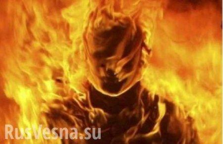 Украинский пенсионер не успел убежать, выжигая кукурузу, и сгорел на поле заживо (ВИДЕО)