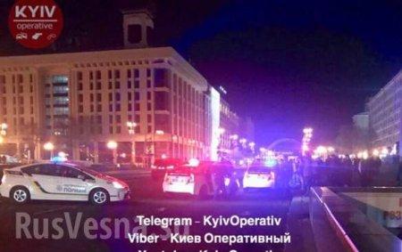 Вцентре Киева ранили полицейского иугнали полицейский автомобиль (ФОТО)