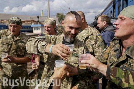 «ВСУшники» отравились алкоголем в поезде Мариуполь — Львов, есть погибший