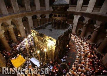 Скандал в Иерусалиме: раскольники из «ПЦУ»,как воры проникли вХрам Гроба Господня (ФОТО)