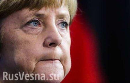 В самолёт Меркель врезался автомобиль