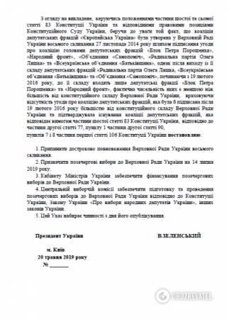 Зеленский подготовил указ о роспуске Рады (ДОКУМЕНТ)