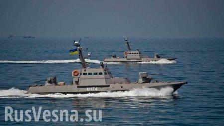 Украинские бронекатера ивертолёт провели стрельбы наАзове (ВИДЕО)