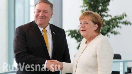 Меркель иПомпео обсудили противодействие России ипомощь Украине