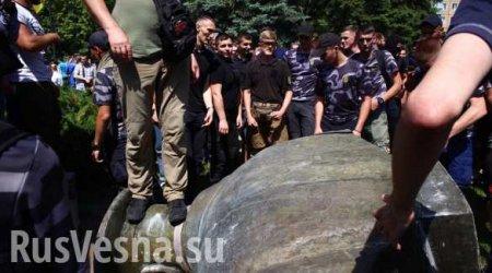 При сносе памятника Жукову в Харькове пострадали полицейские— возбуждено у ...