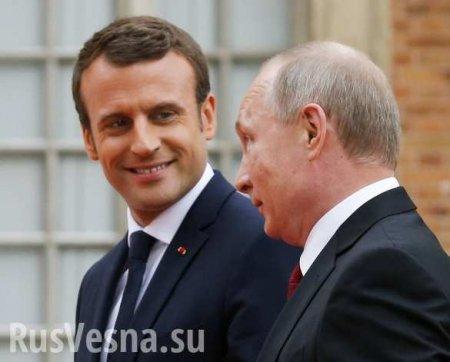 Макрон поприветствовал Путина по-русски в Осаке (ВИДЕО)