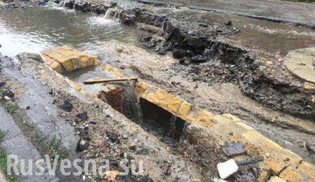 Фонтаны из грязи, сход грунта: последствия шторма в Одессе (ФОТО, ВИДЕО)