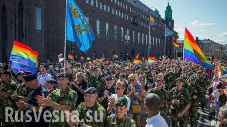 Главком армии Швеции возглавил парад однополых извращенцев (ФОТО)
