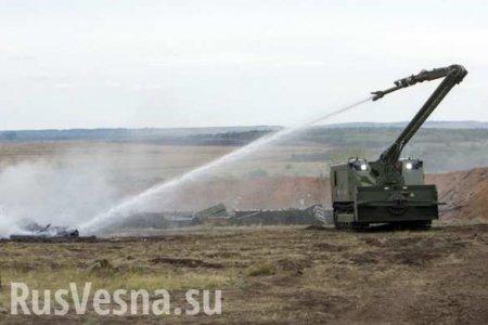 Минобороны перебросило к горящему под Красноярском складу роботы «Уран-14»