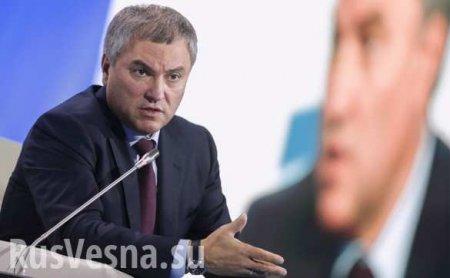 За указом Зеленского о гражданстве для россиян стоит Госдеп, — Володин