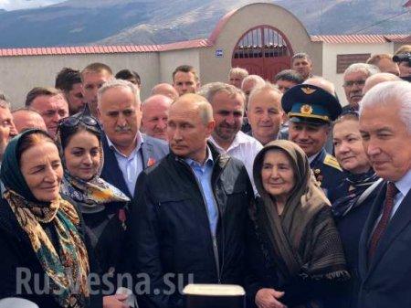 Путин в Дагестане выпил сучастниками боевых действий, какобещал 20 лет назад (+ФОТО, ВИДЕО)