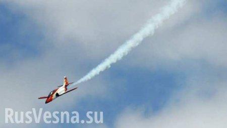 Самолёт ВВСИспании рухнул в море, есть погибшие
