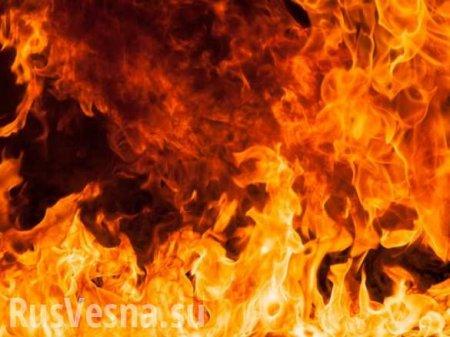 Пьяные «всушницы» из 128-й бригады сожгли штаб с документами (+ВИДЕО)