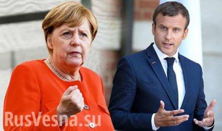 В США рассказали о перепалке Меркель и Макрона