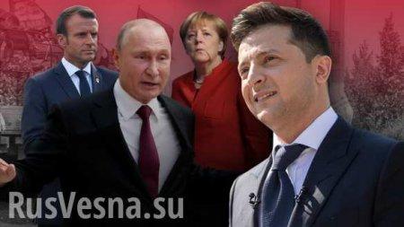 «Тайный язык тела»: О чём думали Путин, Зеленский, Макрон и Меркель во время переговоров? (ФОТО, ВИДЕО)