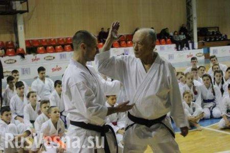 «Меня в Донецк звало сердце», — в ДНР приехал японский сенсей карате Такенори Танака (ФОТО, ВИДЕО)
