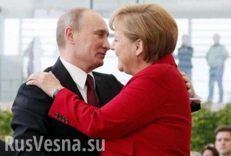Выйдя отПутина, Меркель заговорила по-русски (ВИДЕО)