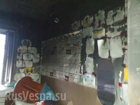 Под Мариуполем сгорела медбаза помощников карателей (ФОТО)