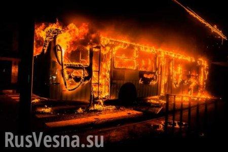 Автобус с украинцами загорелся на ходу в Польше (ФОТО, ВИДЕО)