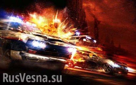 Пьяный украинец вПольше разбил 8автомобилей