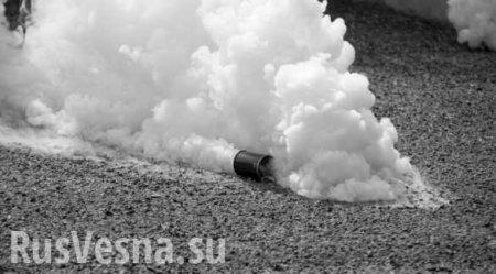 Украинские неонаци прорываются в суд, чтобы отбить подельников, избивают приставов и пускают газ (ФОТО, ВИДЕО)