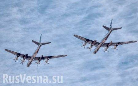 Японские истребители выразили своё почтение российским Ту-95 (ВИДЕО)