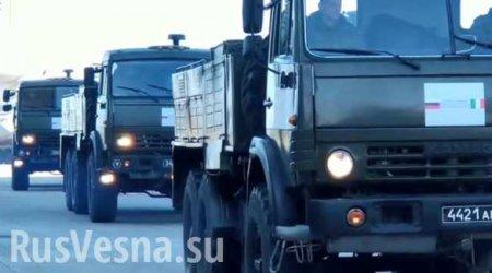Бросок колонны армии России в итальянский Бергамо — появились кадры (ВИДЕО)