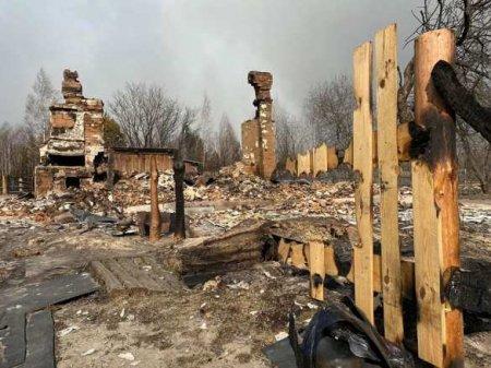 Страшные кадры: сгоревшие сёла подЧернобылем (ФОТО)