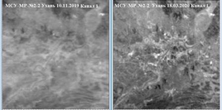 Российский спутник зафиксировал изменения ватмосфере надгородом Ухань завремя эпидемии COVID-19 (ФОТО)