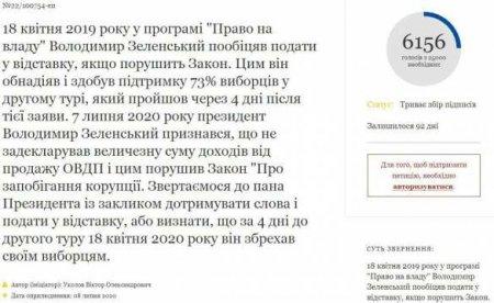 Соратник Порошенко требуетотставки Зеленского: названа причина, опубликована петиция