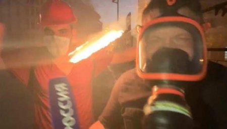 Военкору Поддубному в голову прилетела граната во время столкновений в Бейруте (ВИДЕО)