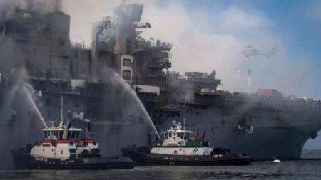 В США назвали причину пожара на десантном корабле ВМС Bonhomme Richard