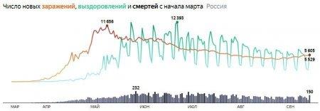 150 скончавшихся за сутки: коронавирус в России