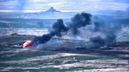 Смертельный удар: Азербайджанские войска уничтожили военный кортеж (ВИДЕО)