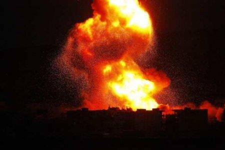СРОЧНО: Море огня — неизвестная авиация нанесла мощные удары по подконтрольной туркам территории Сирии (ВИДЕО, ФОТО)