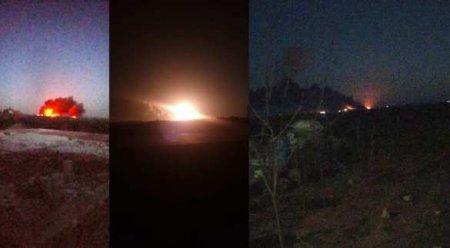 Срочно: Море огня — неизвестная авиация нанесла мощные удары по захваченным турками районам Сирии (ВИДЕО, ФОТО)