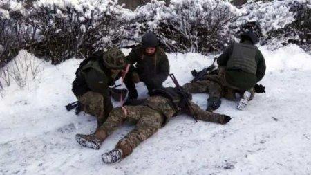 Потери в рядах карателей на луганском направлении исчисляются десятками