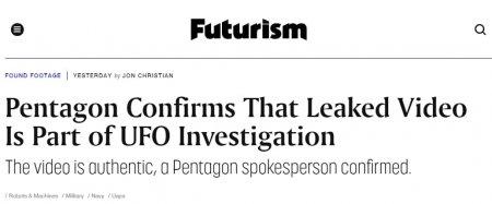 Пентагон подтвердил подлинность кадров сНЛО (ФОТО, ВИДЕО)