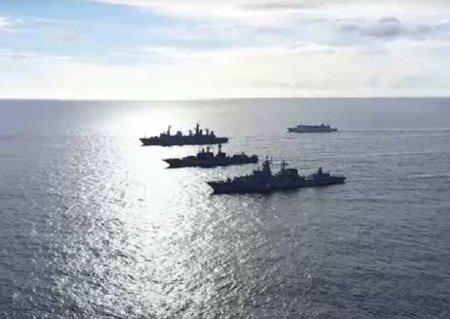 Величественные кадры: боевые корабли и авиация РФ впервые проводят учения в центральной части Тихого океана (ВИДЕО)