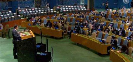 А с роялем был бы аншлаг: Сеть отреагировала на выступление Зеленского в ООН перед пустым залом (ФОТО)